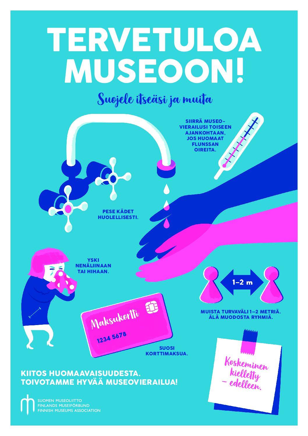 Taidemuseo avautuu: ohjeita kävijöille